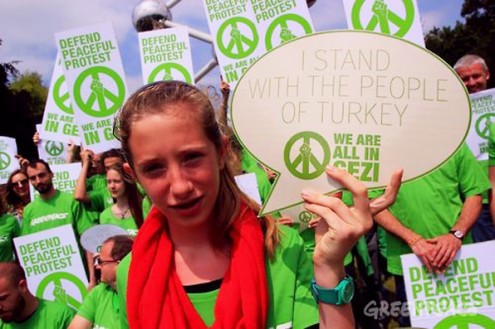 Solidarity with Turkey - Protest in Brussel - 9th june - the Atomium